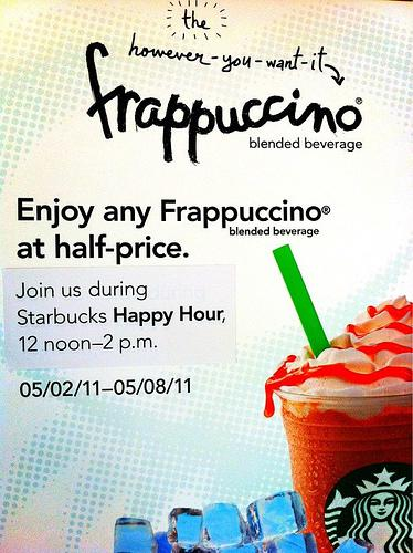 Half-Price Frappucinos on Starbucks Happy Hour (Philippines)