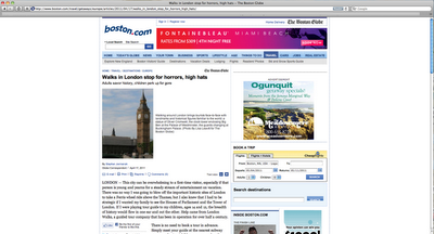 London Walks in The Boston Globe…