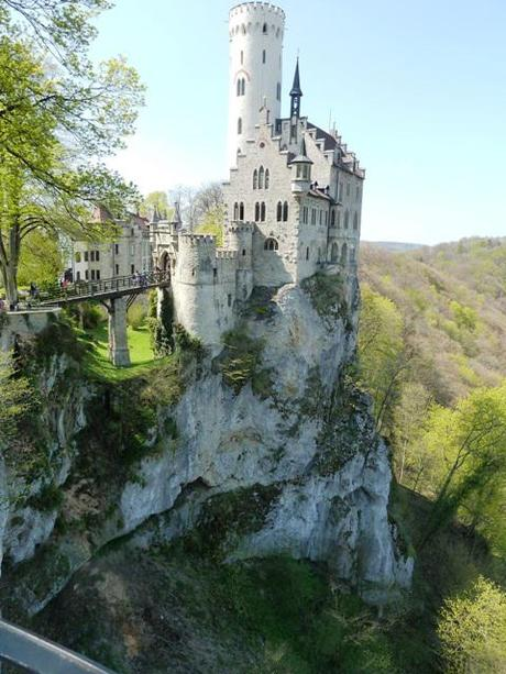 Lichtenstein Castle perched on a cliff