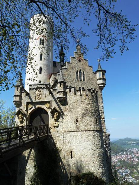 Lichtenstein Castle with drawbridge