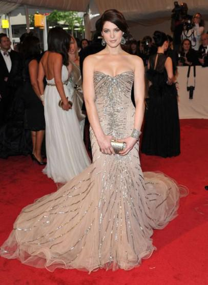 Ashley Green at 2011 Met Ball