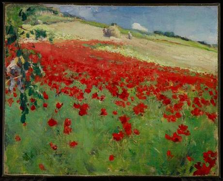 William Blair Bruce - Landscape with Poppies.