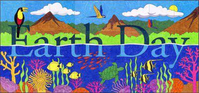 Tropical Earth Day Mural