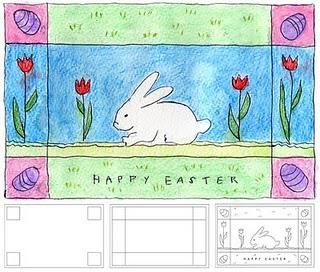 Homemade Watercolor Easter Card