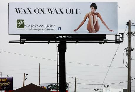 BJ Grand Salon and Spa Nude Woman Billboard