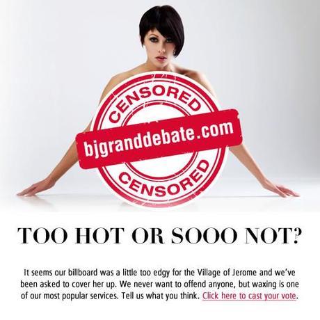 BJ Grand Salon and Spa Censored Billboard