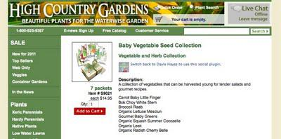 A Billion Acts of Green ... with Baby Veggies for Little Gardeners