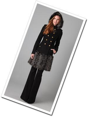 Rachel Zoe Betty Coat with Fur