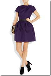 Victoria Beckham Belted Silk-gazaar Dress 4