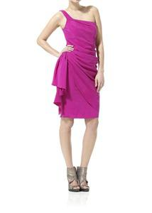 One Shoulder Silk Cady Dress