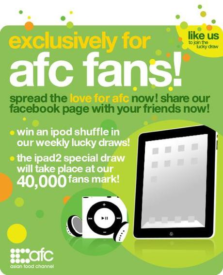 Win an iPad2 at Asian Food Channel