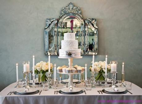 Chic Silver and White Winter Table Top Decor Ideas - Paperblog