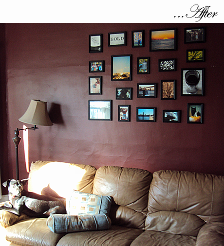 Wall decor: photos and math