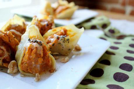 Food: Butternut Squash Pasta Shells with Sage Butter.