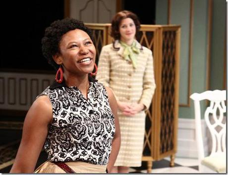 Alana Arenas (as Silvia) and Linda Gillum (as Flaminia) are featured in Remy Bumppo Theatre Company's Changes of Heart by Marivaux, translated by Stephen Wadsworth. (photo credit: Johnny Knight)
