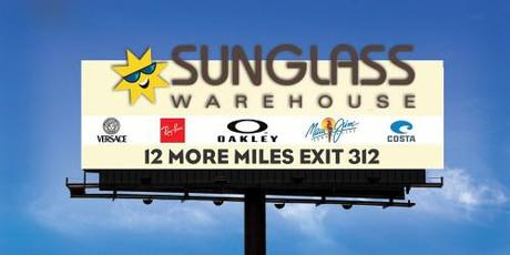 Sunglass Warehouse Billboard - Before