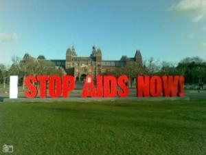 Monumental display for World AIDS Day