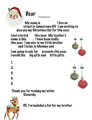 Parenting Thursdsay: Santa's List