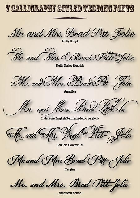 7 Calligraphy Styled Wedding Fonts - Paperblog