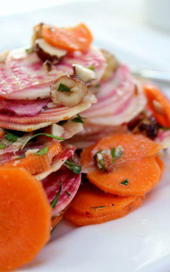 Food: Asian Striped Beet and Carrot Salad.