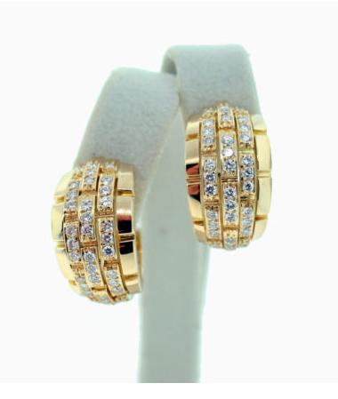 Cartier, diamond, earrings, panther