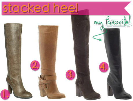Fall Boot Guide: Stacked Heels