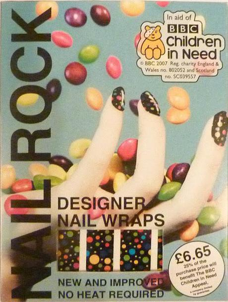 Children in Need 2011 NAIL ROCK WRAPS