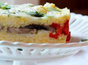 Food: Roasted Pepper Mushroom Polenta Layers.