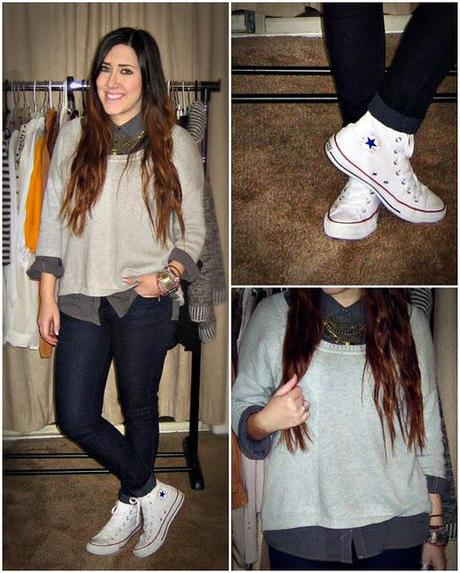 how to wear white converse with skinny jeans