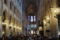 Inside the Notre Dame de Paris Cathedral