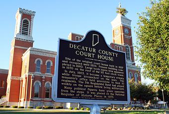 Greensburg Indiana Decatur County Courthouse Or What S