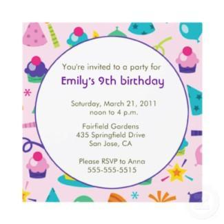 Birthday invitation invitation
