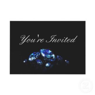 Diamond party invitation invitation
