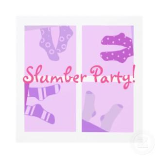 Slumber party invitation invitation