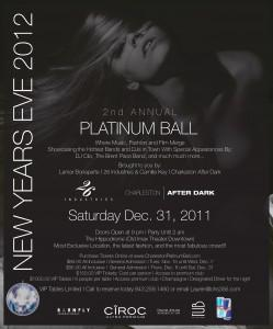 New Year's Eve Platinum Ball in Charleston, SC