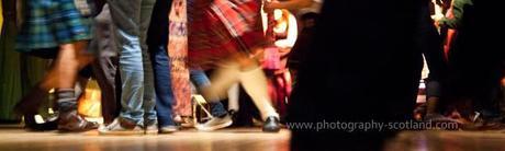 Photo - ceilidh dancers in Edinburgh, Scotland