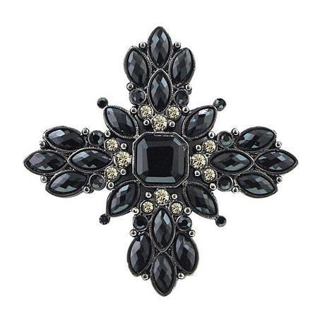 Victoria Black Vintage Brooch