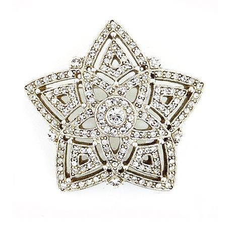 swarovski crystal star brooch