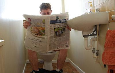 Is Reading On The Toilet Bad For You?