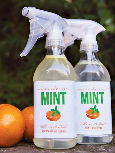 Mandarin and Mint Natural Household Cleaners