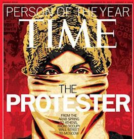 Time Magazine Person Of The Year Is 'The Protester'