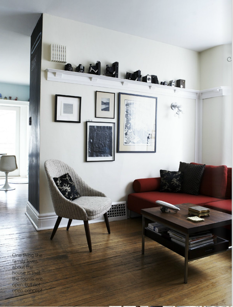 A clutter-free and warm home of a Toronto artist