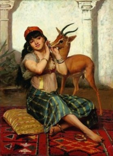 Young Girl with a Gazelle