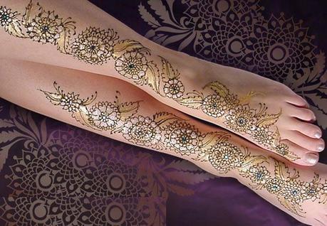 Mehndi Designs On Hips : Top mehndi designs for leg paper