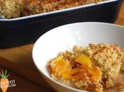 Peach Coconut Crumble- Vegan Mofo 2014