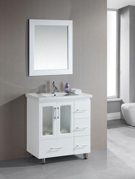 Shallow bathroom vanities with 8 18 inches of depth - Unique bathroom vanities for small spaces ...
