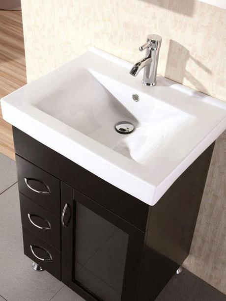 Milan Integrated Sink U2013 17.75u2033 Depth. Milan Black Bathroom Cabinet