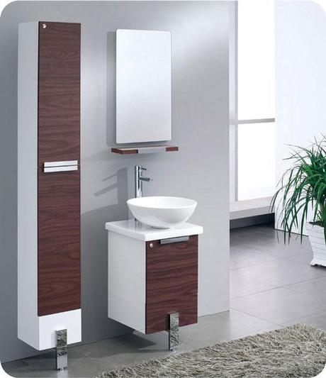 Shallow bathroom vanities with 8 18 inches of depth for Bathroom cabinet 8 inches wide