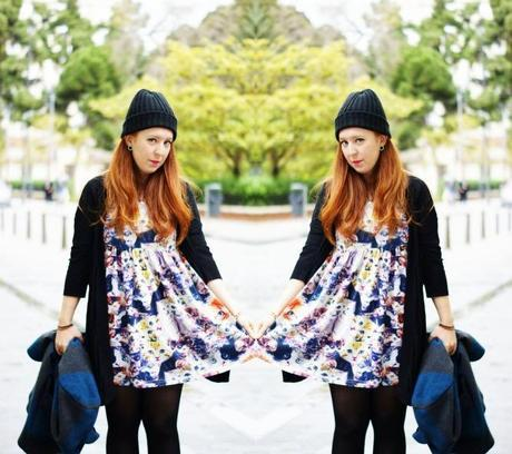 TheMowWay.com  - Cat dress on a rainy day (Outfit)