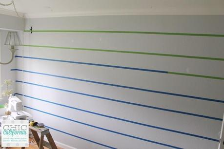 Creating the Perfect Striped Wall by Chic California